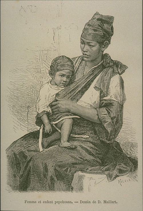 Madre y niño Pepohoan