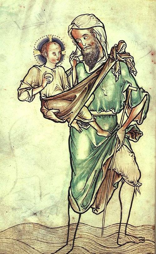 San Cristóbal llevando a Cristo Niño