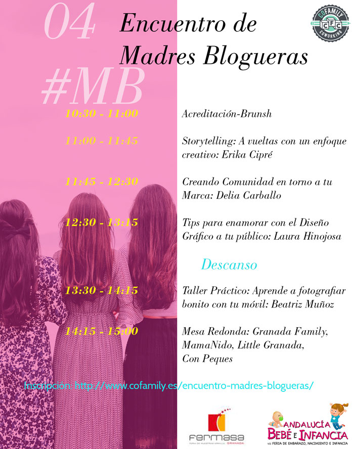 Cartel 4º Encuentro de Madres Blogueras de Granada