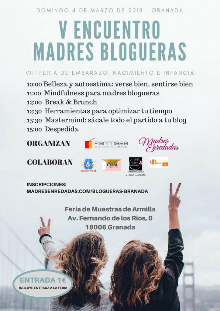 Cartel V Encuentro Madres Blogueras Granada