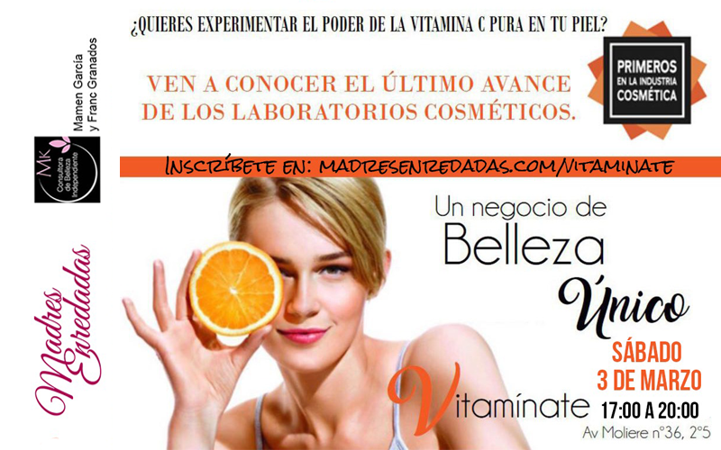 Cartel evento Vitamínate con Mary Kay