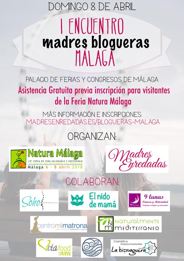 Cartel I Encuentro Madres Blogueras Málaga