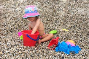 Laura en la playa 2015